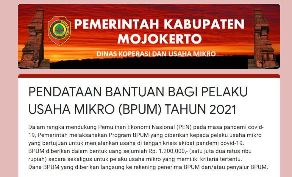 http://bit.ly/BPUM2021KABMJK Link Daftar BPUM Tahap 3 Kab. Mojokerto April 2021