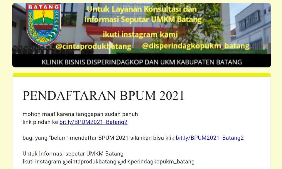 https://bit.ly/BPUM2021_Batang2 Daftar BPUM Tahap 3 Kab. Batang April 2021