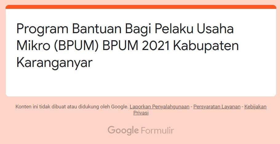 https://bit.ly/bpumkaranganyar2021 Daftar BPUM Tahap 3 Kab. Karanganyar April 2021